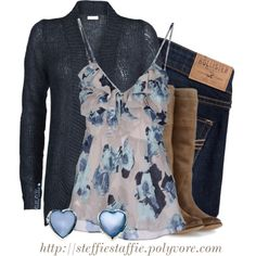 Shades of Blue, created by steffiestaffie on Polyvore