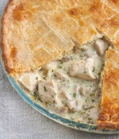 The flavoursome cheddar crust Nathan Outlaw employs makes this chicken and mushroom pie recipe something special.