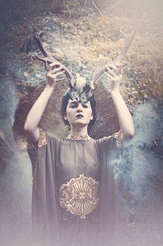 Autumn Goddess Photo shoot. model Ruth veronica photo cred:.Lisa Griffin Photography set/styling: Jill Wild Hair- audrey cashman of upstyle junkie Make up ; Linda Collins Make up shot in Mullinhassig Woods, Cork, Ireland