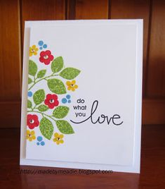Do What You Love card by Karen Mead - Paper Smooches - Reflections, Group Hugs