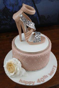 Gumpaste shoe, non edible bling!