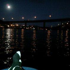Moonlight fishing..