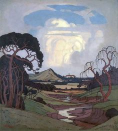 PIERNEEF : Rupert Museum Tree Study, African Paintings, South African Artists, Fairytale Art, Unusual Art, Artist At Work, Painting Inspiration, Art Images, Landscape Paintings
