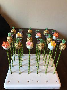 Tropical/Tiki/Hawaiian/Moana themed cake pops