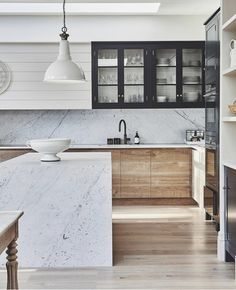 Modern Kitchen Design by Blakes London - Our take on a classic trend! Shaker Style Kitchens, Farmhouse Style Kitchen, Modern Farmhouse Kitchens, White Wood Kitchens, Industrial Style Kitchen, Modern Farmhouse Interiors, Modern Cottage, Small Kitchens, Modern Industrial