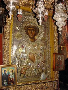 Η αχειροποίητος εικόνα του αγίου Γεωργίου (Ιερά Μονή Ζωγράφου, Άγιον Όρος) - The icon of St George not made by hands (Holy Monastery of Zografou)