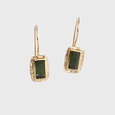 Lucilla 9 Carat Gold Tourmaline Drop Earrings