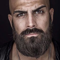 Image may contain: 1 person, beard and closeup Beard And Mustache Styles, Beard Styles For Men, Beard No Mustache, Hair And Beard Styles, Moustache, Bald Men With Beards, Bald With Beard, Grey Beards, Shaved Head With Beard