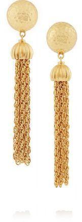 Ben-Amun Gold-Plated Tassel Clip Earrings