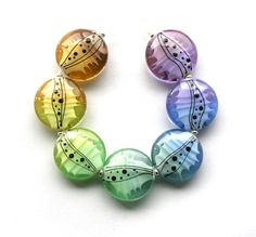 How Pretty! Chameleon Designs, Lampwork glass beads made in the UK