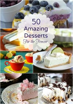 Entertaining is much easier with a make-ahead freezer friendly dessert. Check out these 50 Amazing  Desserts for the Freezer Roundup of for inspiration!  | Find it at MealPlanningMagic.com