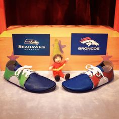 Ready for the big game? #shoes #broncos #seahawks #sb48 #superbowl