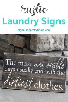 Love this funny quote farmhouse laundry sign. - Organised Pretty Home for the la. Love this funny quote farmhouse laundry sign. – Organised Pretty Home for the laundry room Laundry Room Quotes, Laundry Humor, Laundry Room Layouts, Laundry Room Signs, Laundry Room Organization, Laundry Rooms, Laundry Quotes Funny, Laundry Room Wall Decor, Basement Laundry
