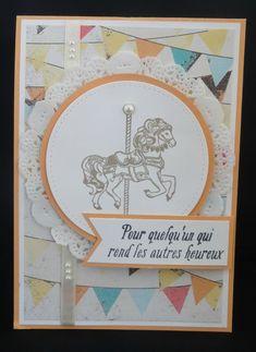 Carte twist Stampin'Up (1) - Design Petits gâteaux et manèges, tampons Carousel Birthday, tampons Jard'incroyable (SAB 2017)