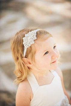 Flower Girl Headband / Vintage Inspired by MiaLorenBoutique