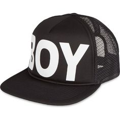 Boy London Mesh snapback cap ($37) ❤ liked on Polyvore featuring accessories, hats, caps, snapbacks, headwear, mesh cap, snapback cap, snap back hats, snapback hats and cap hats
