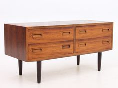 Low unit chest of drawers from the sixties by Poul Hundevad for Hundevad Møbelfabrik