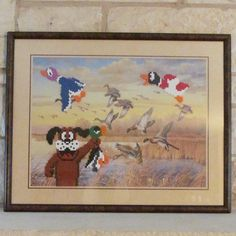 Love finding perfect Duck Hunt background pics at thrift stores!