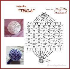Crochet Doily Diagram, Crochet Chart, Thread Crochet, Crochet Motif, Crochet Flowers, Crochet Stitches, Knit Crochet, Crochet Home, Crochet Ornaments
