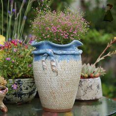 Modern Simple Balcony Small Planter Little Dog Milky Cream White Ceramic Succulent Plant Flower Pot Miniature Decoration Flowerpot