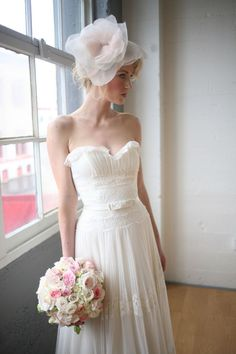 "Cute vintage style wedding gown / by Melissa Sweet, style is ""Fern""  Love this!!!!!!"