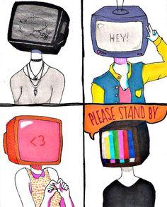 Oh God...Eu tenho uma queda por esses desenhos de pessoas-Tv