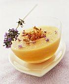 Chilled melon soup with lavender flowers  Alkèmia pas trouvé