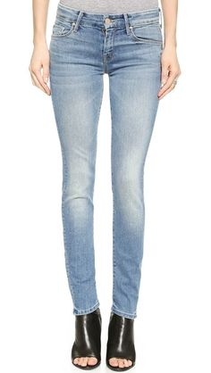 Light Wash: MOTHER The Looker Skinny Jeans