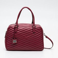 Sac à main en cuir BENETTON cuir rouge