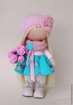 Купить Дженни - интерьерная кукла, текстильная кукла, подарок девушке, авторская кукла, блондинка