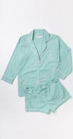 Maya Check Short Pajama Set - Pajama Sets - Ideas of Pajama Sets - Maya Check Short Pajama Set Pajamas For Teens, Cute Pajamas, Satin Pyjama Set, Pajama Set, Womens Fashion Online, Latest Fashion For Women, Pyjamas, Pijamas Women, Womens Pyjama Sets