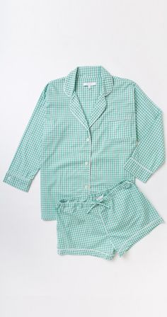 Marigot Collection — Maya Check Short Pajama Set