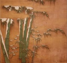 Bamboo in early snow Japanese_screen_S339