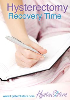 What is the expected recovery time for my upcoming hysterectomy?  Hysterectomy Recovery Time   Hysterectomy Recovery HysterSisters Article