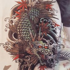 Ichibay Cool Designs, Japanese, Carp, Artist, China, Canvas, Dragons, Japanese Tattoos, Tela