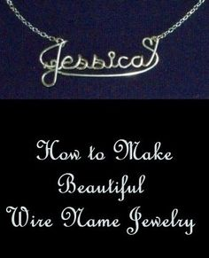 -------- Wire Name Jewelry --------- How to make beautiful wire name jewelry