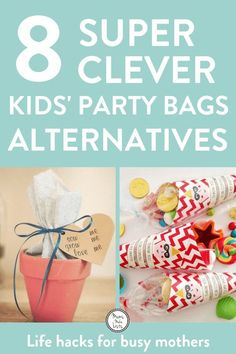 Alternative party bag ideas for kids birthday parties to avoid filling party bags with cheap single-use plastic and stuff that gets discarded within minutes Toddler Party Favors, Birthday Party Goodie Bags, Cheap Party Favors, Party Gift Bags, Birthday Favors, Birthday Parties, Birthday Kids, Party Favours, Party Favour Ideas