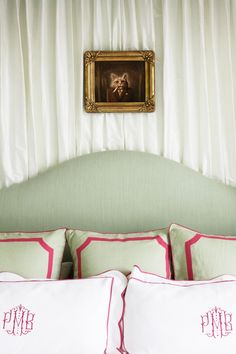 love this - especially the monogrammed pillows
