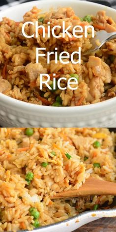 Chicken Fried Rice is a fast and easy rice dish made with stir-fried chicken vegetables and rice It s all tossed with a combination of soy sauce and oyster sauce chicken rice friedrice asianrecipes easydinner Rice Recipes For Dinner, Easy Rice Recipes, Easy Healthy Recipes, Vegetarian Recipes, Easy Meals, Cooking Recipes, Recipes With Brown Rice, Dirty Rice Recipe Easy, Mexican Rice Recipes