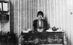 Kathleen Murry  [Katherine Mansfield] (1888–1923), by Ida Baker, 1920 [at her work table at the Villa Isola, Menton, France] John Middleton, Katherine Mansfield, People Of Interest, France, Villa, Bloomsbury, Matilda, Rivers, Ministry