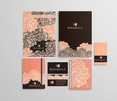 Corporate identity . ID design . Brand . Stationary . Bonabella by Isabel Muriel, via Behance