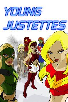 Young Justettes by *inspector97 on deviantARTx Artemis,Arrowette,Miss M,Secret,Empress,and Wonder Girl