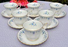 Royal Albert Memory Lane bone china teacups and saucers set £58