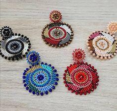 Fringe Earrings, Beaded Earrings, Statement Earrings, Earrings Handmade, Crochet Earrings, Beaded Bracelets, Diy Jewelry, Beaded Jewelry, Jewelry Making