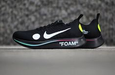 ba7a5840fd807 The OFF-WHITE x Nike Zoom Fly Mercurial Flyknit Black is featured in  additional imagery and it s dropping on June