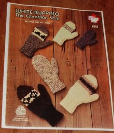 White Buffalo Canadian Mittens for the whole family by Mostable, $7.00