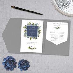 Blueberry | Einladung Zur Hochzeit Als Pocketfold Mit Einsteckkarten Direkt  Online Gestalten. Das Liebevolle Design