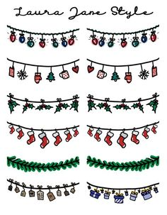Easy Christmas Drawings, Christmas Doodles, Christmas Stickers, Christmas Crafts, Xmas Cards, Holiday Cards, Craft Organisation, Easy Doodle Art, Diy Letters