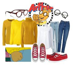 """Arthur"" by amywillson on Polyvore featuring Marc, ZeroUV, eyebobs, Topshop, Lands' End, Roseanna, Misha Nonoo, Keds and Converse"