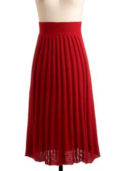 Pleats Be Red-y Skirt